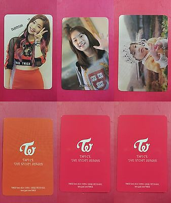 LOT OF 3 TWICE DAHYUN Official Photocard Full Set 1st Album The Story Begins
