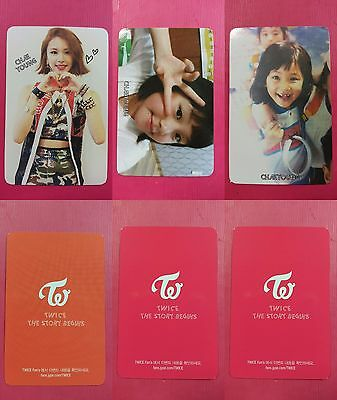 LOT OF 3 TWICE CHAEYOUNG Official Photocard Full Set 1st Album The Story Begins