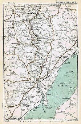 MONMOUTHSHIRE Environs of Chepstow - Antique Map 1901 by Bartholomew