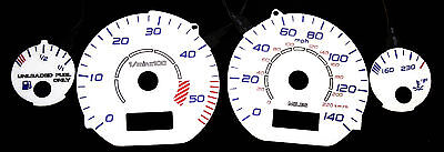 140MPH Blue Red White Face Indiglo Green Glow Gauge For 95-99 Volkswagen Golf