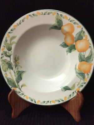 Lot of 4 LARGE RIM SOUP BOWLS AVON CHINA COUNTRY FRUIT COLLECTION BY JULIE POPLE
