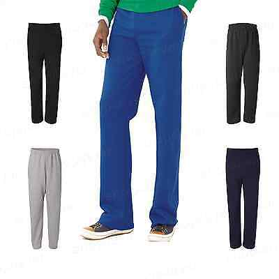JERZEES NuBlend Open Bottom Pocketed Sweatpants Mens Sport Pants S-3XL 974MPR PI