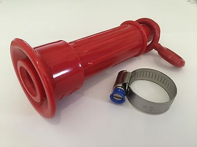 Fire Hose Reel 19mm Plastic Nozzle Twist Type with Hose Clamp