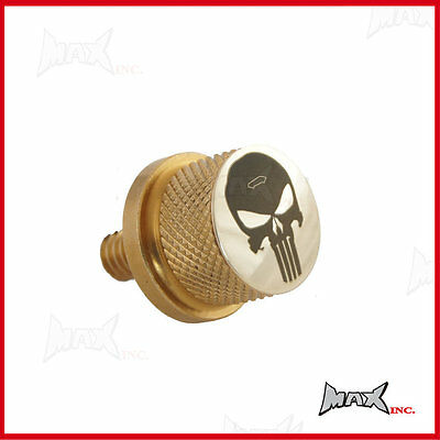 Punisher skull logo emblem Brass seat bolt Fits Harley Davidson 1996 Models & up