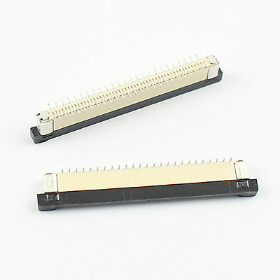 10 Pcs FPC FFC 0.5mm Pitch 50 Pin Drawer Type SMT SMD Ribbon Flat Connector