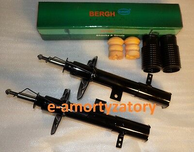 2x Front Gas Shock Absorbers   DODGE CALIBER 2006-  + Protection KIT BERGH