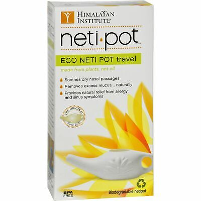 Himalayan Institute Neti-Wash Eco Neti Pot Nonbreakable - 1 Pot 2 Pack