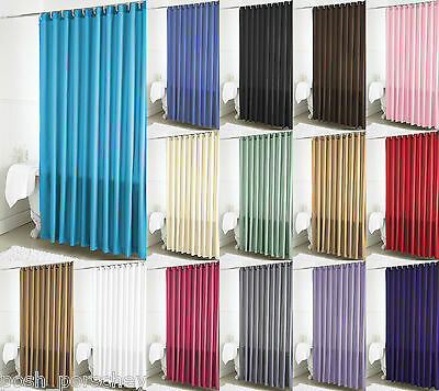 New Solid Plain Dye Dyed Polyester Shower Curtain 180 200 Js4350