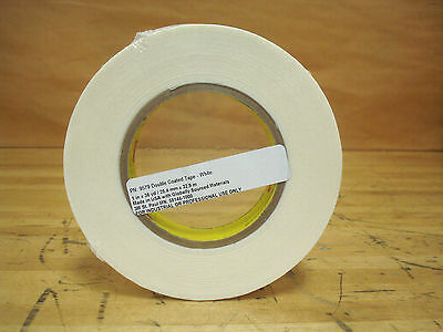 """3M 9579 Double Sided Tape, 1"""" x 36 yd, White - 1 Roll 