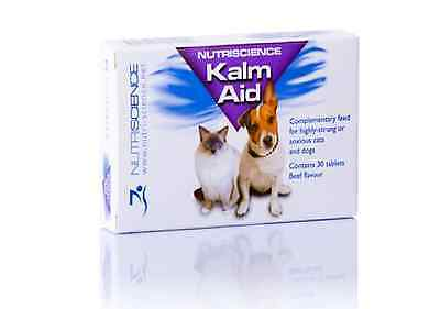 NEW KalmAid Anxious Pet Remedy Dog Cat Anxiety 30 Tablets