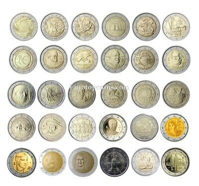 #rm# 2 Euro Commemorative Italy (2004-2018) -  All Pieces - Please Choose