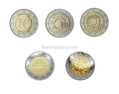 #rm# 2 Euro Commemorative Cyprus (2009-2015) -  All Pieces - Please Choose