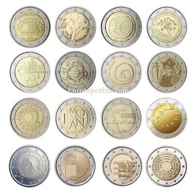 #rm# 2 Euro Commemorative Slovenia (2007-2018) -  All Pieces - Please Choose