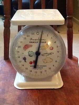 Vintage American Family Metal Scale, 25 lbs.
