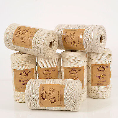 Quality Everlasto Natural Cotton Macrame Twine String 1Mm 2Mm 3Mm 4Mm 5Mm 7Mm