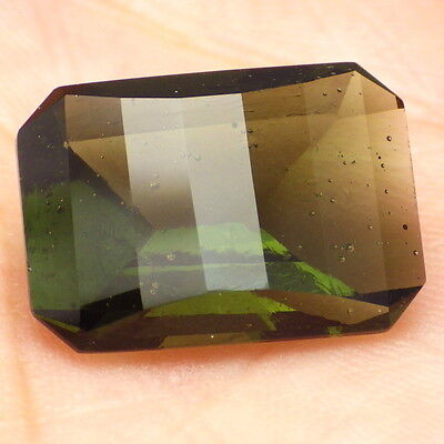 BOHEMIAN MOLDAVITE-LOCENICE 9.47Ct LEAF GREEN-LARGE JEWELRY / INVESTMENT