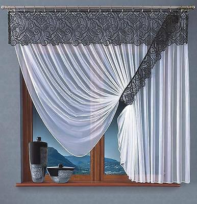 Top Quality Net Curtains With Pelmet - Ready To Hang