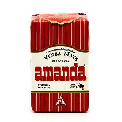Amanda Yerba Mate Traditional Tea 250g pressed packaging - Produced in Argentina