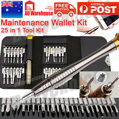 25 in 1 Set Repair Tools Precision Screwdriver Wallet for Electronics PC Laptop