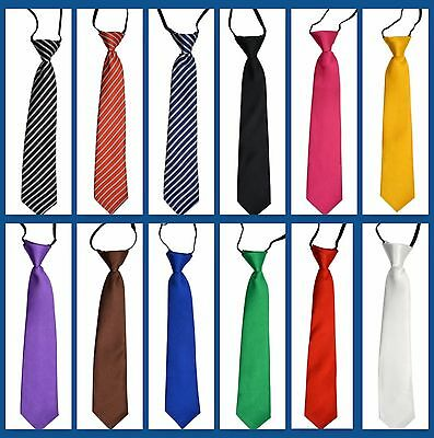 Pre-Tied Baby Toddlers Kids Children Unisex Necktie 12 Colors To Choose From