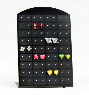 72 holes Earrings Jewelry Display Stand Organizer Holder Show Case Rack Tool C0H