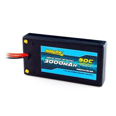 HobbyStar Shorty-Lite 3000mAh 7.4V 2S 90C 130C SHORTY Hardcase LiPo Battery Pack