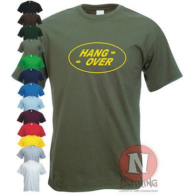 HANG OVER Land Rover spoof funny 4x4 off road green lane Landy lover T-shirt