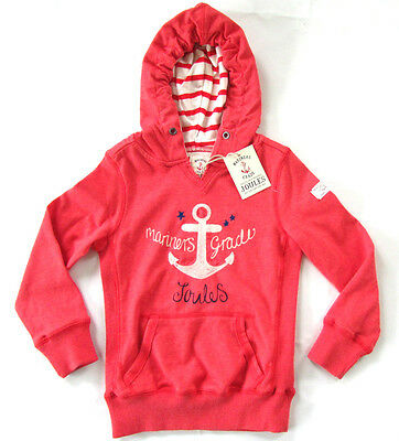Joules Girls Junior Southwell Hooded Top 4 Years - Red - RRP £27.95 - BNWT