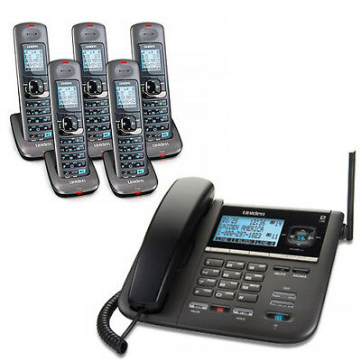 Uniden DECT4096-5 2-Line DECT 6 Corded/Cordless Phone w/Digital Answering System