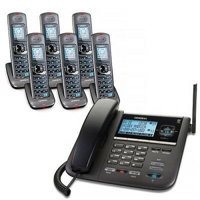 Uniden DECT4096-6 2-Line DECT 6 Corded/Cordless Phone w/Digital Answering System
