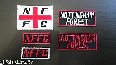 Nottingham Forest Supporters Embroidered Iron On/Sew On Patch Choice of Designs