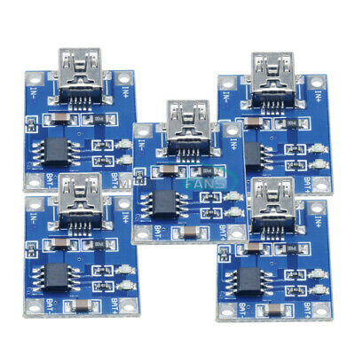 10PCS 5V Mini USB 1A Lithium Battery Charging Board 18650 Charger Module