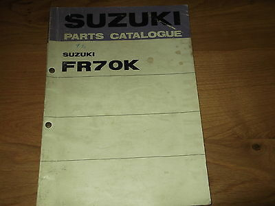 Suzuki FR 70 K Model Parts catalogue