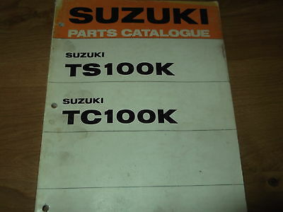 Suzuki TS100K TC100K  Parts book list catalogue