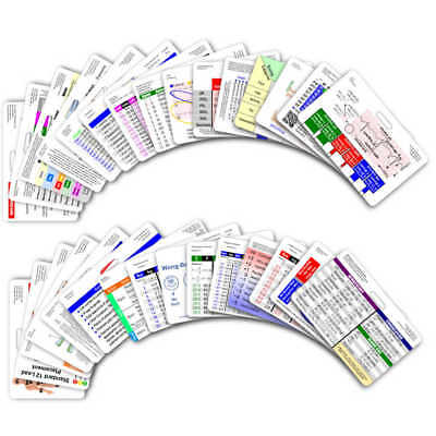 Comprehensive Horizontal Badge Card Set - 30 Cards - Reference Pocket ID Card