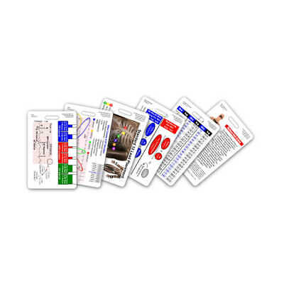 Mini Paramedic Vertical Badge Card Set - 6 Cards - Pocket Reference Cheat Sheet