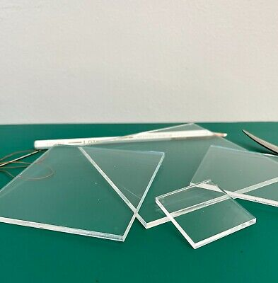 "Square PatchWork Shape Templates 3mm Clear Acrylic 1 1/2""-4 1/2"" Quilting Ruler"