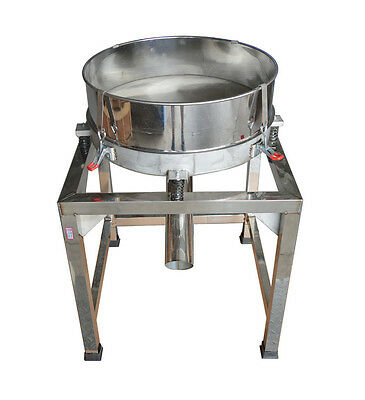 110V Stainless Steel Electric Powder Shaker Food Vibration Sieve Machine Top NEW
