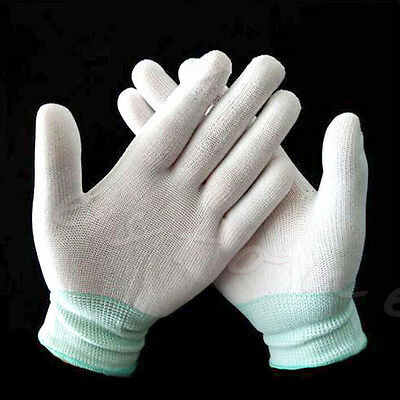 White Nylon Quilters Free Motion Machine Quilting Sewing Grip Gloves Fingertip