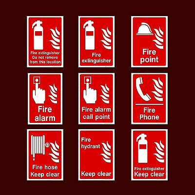 Fire Extinguisher / Alarm / Call Point / Keep Clear - Plastic Sign, Sticker