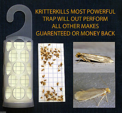5 x KRITTERKILL DIAMOND CLOTHES MOTH TRAPS - PHEROMONE - 450,000 PADS SOLD