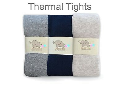 Plane girls thermal navy blue tights Extra Thick terry 90% cotton 5 to 12 Years