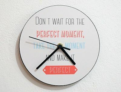 Valentines Day - Take the moment and make it perfect - Wall Clock