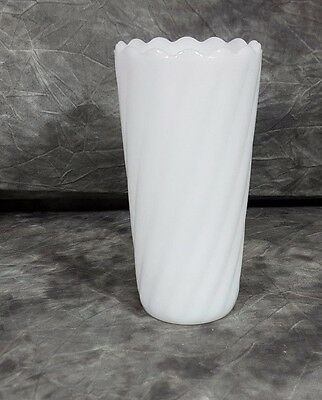 White Milk Glass Vase By Eo Brody Co Cleveland Oh 1299 Picclick