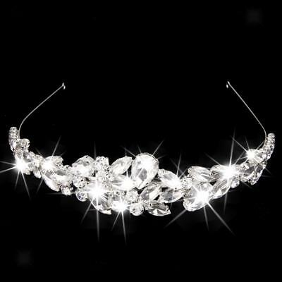 Wedding Bridal Tiara Rhinestone Silver Crystal Crown Pageant Tiara Headband