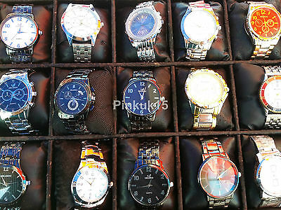 New Wholesale Joblot of Assorted Quartz Mens Wrist Watches x6 x10 x15 x25