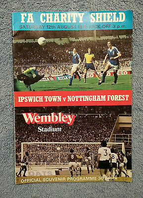 1978 - CHARITY SHIELD PROGRAMME - IPSWICH TOWN v NOTTS FOREST