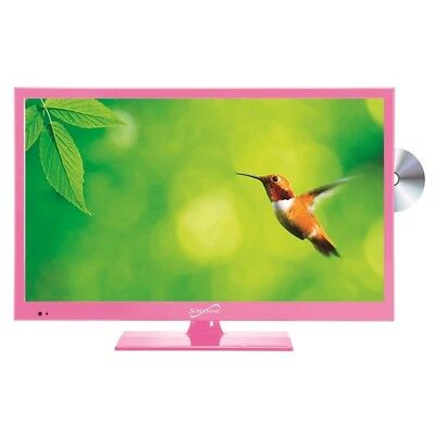 "Supersonic SC-1512PK Pink 15.6"" LED Widescreen HDTV Television with DVD Player"