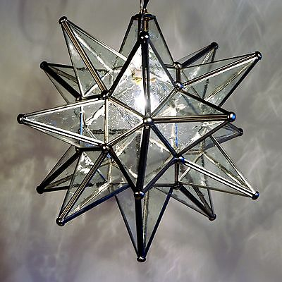 "Moravian Star Pendant Light, 19"", 15"" or 10"", Choose your Glass & Trim Options!!"