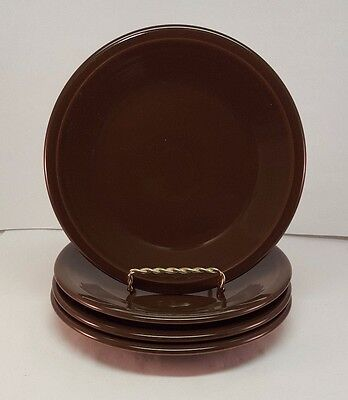 Fiestaware Chocolate Salad Plate Lot of 4 Fiesta Brown 7.25 inch small plates